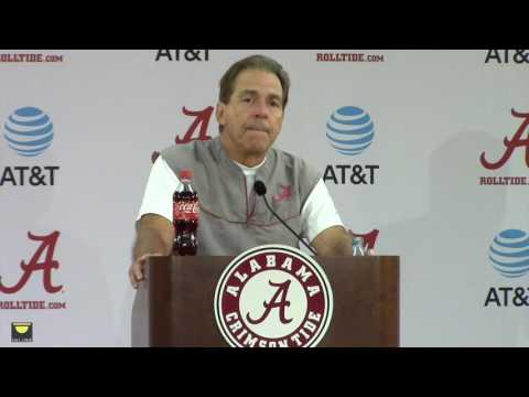 Nick Saban discusses Texas A&M, Bo Scarbrough, more