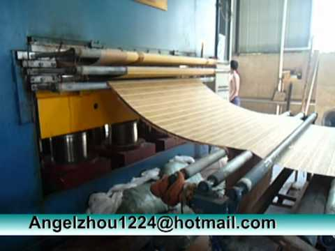 Bamboo Mat Machine, Press Cloth to Bamboo Mat, Bamboo Mat Making Machine