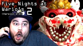 BOWSER LOOKS TERRIFYING IN THIS UPDATE!!   Five Nights at Wario's 2 (Version 2.0)