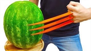 Wolverine Claws vs Watermelon!