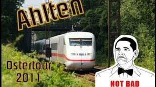 preview picture of video 'Ostertour 2011 Folge 4 - 8 Bahnfans in Ahlten (Lehrte!)'