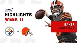 Baker Mayfield Quiets Steelers w/ 3 Total TDs | NFL 2019 Highlights
