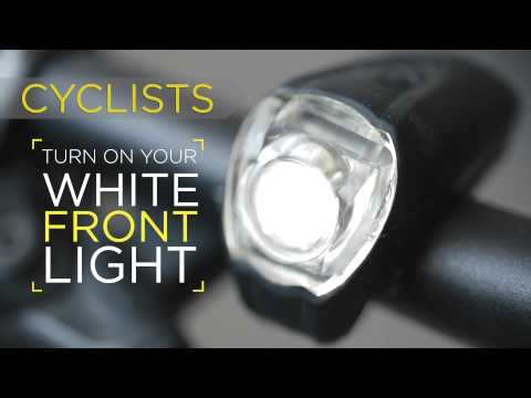Image of a bike light with the caption,
