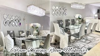 GLAM DINING ROOM DECORATING IDEAS MAKEOVER 2020