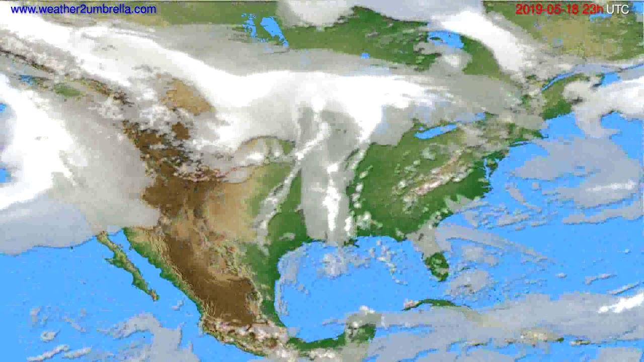 Cloud forecast USA & Canada // modelrun: 12h UTC 2019-05-15