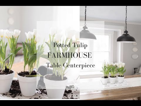 FARMHOUSE TABLE CENTERPIECE | Spring Farmhouse Decor 2018