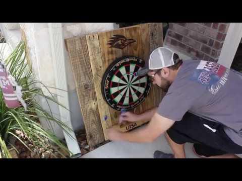 Reclaimed Wood Darts Backboard