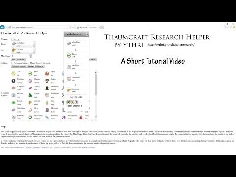 Thaumcraft Research Helper Tutorial