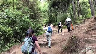 preview picture of video 'Bhutan Yoga Retreat 2018- Trek up to Tiger's Nest Monastery'