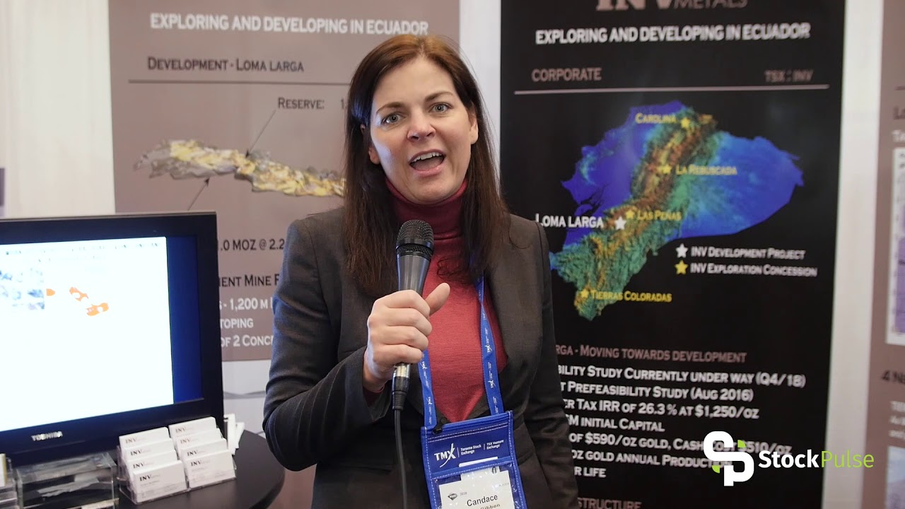 INV Metals Catalyst Clip with CEO Candace MacGibbon at the 2018 PDAC in Toronto