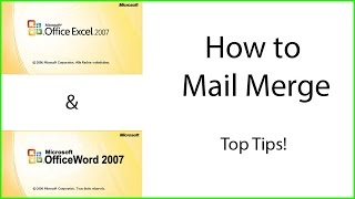 How to Mail Merge using Microsoft Excel and Word