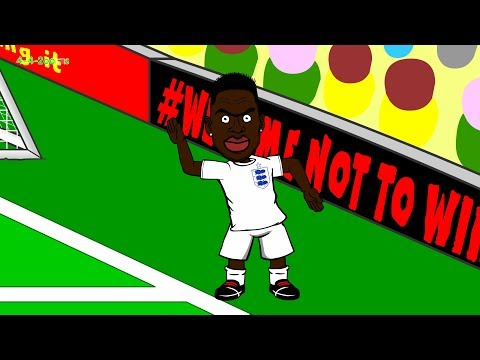 🇧🇷ENGLAND vs ITALY 1-2 🇧🇷by 442oons (World Cup 2014 Cartoon 14.6.14 Gary Lewin Ankle)