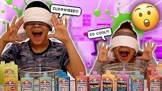 Blindfold Slime Challenge | FamousTubeKIDS