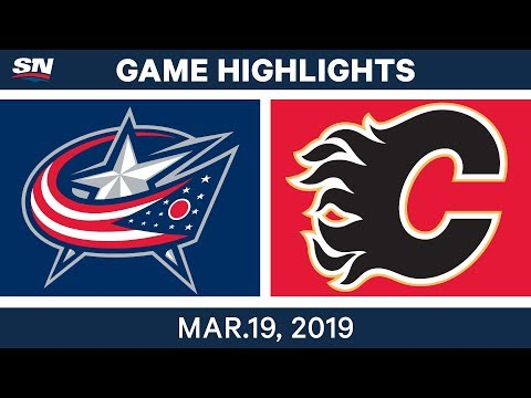 NHL Game Highlights | Blue Jackets vs. Flames - March 19, 2019