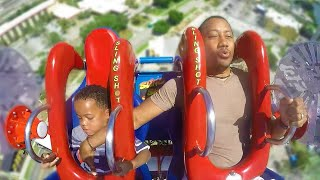 Kid Falls Off Ride, Dad Tried To Save Him..