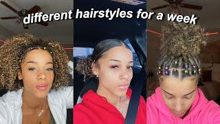 Trying New Curly Hairstyles For A Week | Azlia Williams