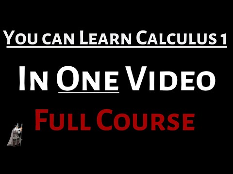 You Can Learn Calculus 1 in One Video (Full Course)