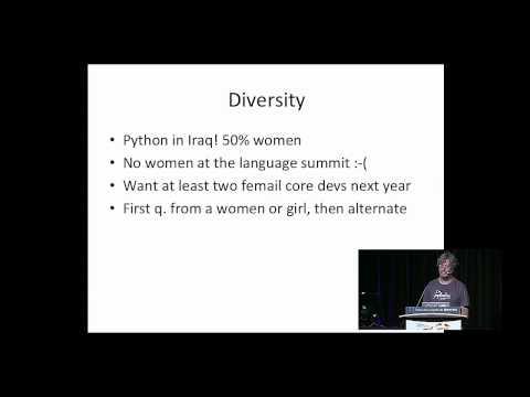 Keynote - Guido van Rossum - PyCon 2015