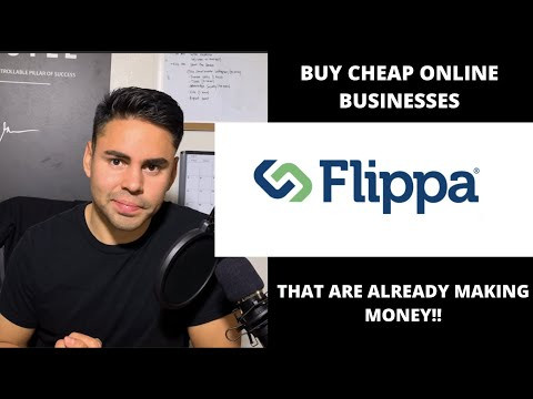 How to Buy a CHEAP online business that is already MAKING MONEY with FLIPPA