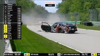 Porsche GT3 Cup Challenge USA 2018. Race 1 Road America. Last Laps | Hard Crashes