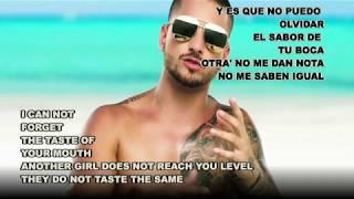 No puedo olvidarte - Maluma ft Nicky Jam (Español Letra / English Lyrics)
