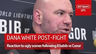 Dana White media scrum after UFC 229 post-fight incident | BT Sport