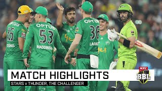 Marcus Stoinis and Nick Larkin both posted 83 as the Stars returned to form to record a thumping win over the Thunder at the MCG