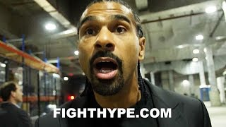 DAVID HAYE REACTS TO DILLIAN WHYTE'S DEVASTATING KNOCKOUT OF LUCAS BROWNE: