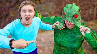 Pond Monster FACE REVEALED!! (Doing Whatever it Lands on Drop Test Challenge Unmasking)