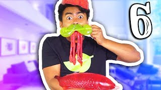 GUMMY VS REAL FOOD 6!!!