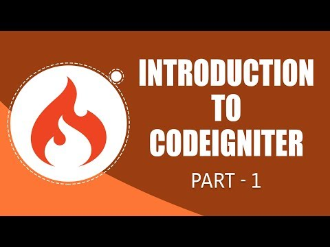 CodeIgniter Framework | Introduction | Part 1 | Eduonix