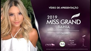Luiza Braz Miss Grand Bahia 2019 Presentation Video