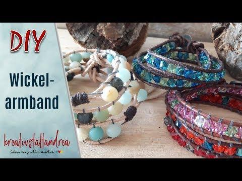 DIY - Wickelarmbänder mit Perlen | Anleitung | Einfach