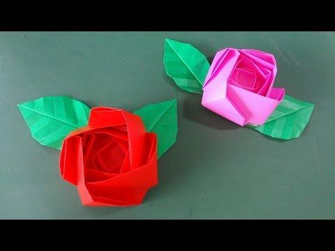 折り紙の 折り紙バラ折り方簡単平面 : matome.naver.jp