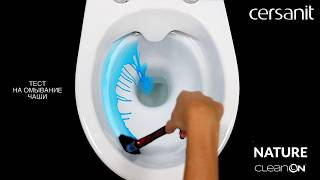 Унитаз напольный Сersanit (Церсанит, Керсанит) NATURE NEW CLEAN ON 011 3/5л. (гориз. вып, дюр. сид., easy-off, ниж. под. от компании CERSAN.BY - видео
