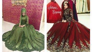 New Beautiful Muslim Wedding Ball Gown||Hijab Fashion|Muslim Wedding Wear