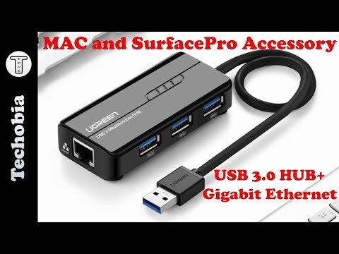 USB 3.0 Hub + Gigabit Ethernet #Ugreen review – best for Surface Pro and Mac Devices