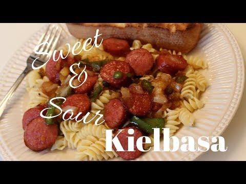 Video DINNER IDEA: Sweet & Sour Kielbasa Recipe
