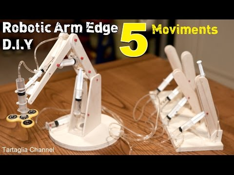 Amazing - How to make syringhe Hydraulic Robotic arm - 5 movements