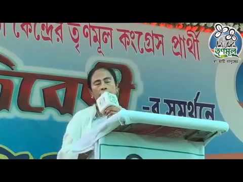Mamata Banerjee addresses a public meeting at Palta
