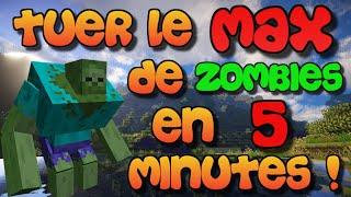 MINECRAFT DÉFI : TUER LE MAXIMUM DE ZOMBIES EN 5 MINUTES !