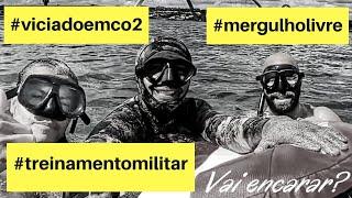 Aula de Mergulho Treinamento de apneia X Treinamento militar.