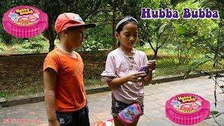 Trò Chơi Hái Quả Kẹo Hubba Bubba - Đi Chơi Ăn Kẹo Cuộn Tròn - Bé Minh MN Toys