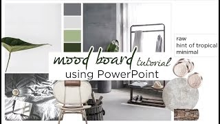 How to: Interior Design Mood Board in PowerPoint!