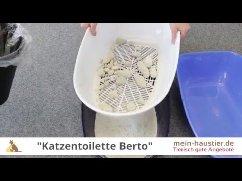 Das perfekte Katzenklo: Katzentoilette Berto mit Sieb