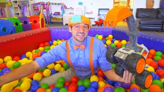 Blippi Fun And Learning At Indoor Playground For Kids | Educational Kids Videos | 1 Hour Of Blippi