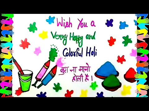 Video Holi Festival Drawing Easy Steps For Kids Mp3 Bos Agus Video