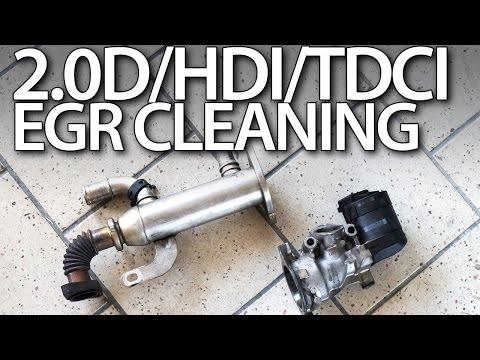 Фото к видео: 2.0HDi 2.0TDCi 2.0D EGR valve cleaning
