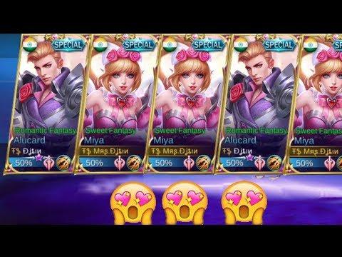 Mobile Legends - New ALUCARD & MIYA Valentine's Hero Skin Gameplay!!