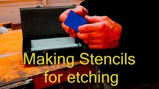 making stencils with etch o matic stencil Film